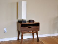 Mid Century Style Modern Nightstand by SierraWoodStudio on Etsy, $495.00