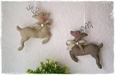 2 Rentiere♥taupe♥Weihnachten♥Shabby♥Vintage von Little Charmingbelle auf DaWanda.com
