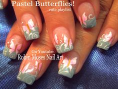 Pastel Butterfly Nails! #cute #nailart #nails #nail #art #howto #nailart #butterfly #diy #design #tutorial #butterflies #simple #easy #trendy #summer #pastel #pink #mint #filigree