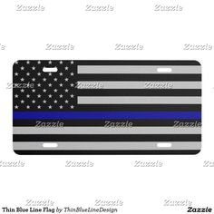 Thin Blue Line Flag - Car Floor Mats License Plates, Air Fresheners, and other Automobile Accessories