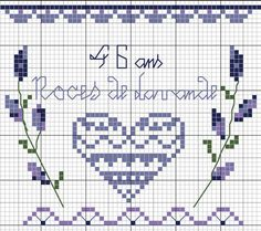 Embroidery Patterns Free, Needlepoint Patterns, Hand Embroidery, Cross Stitch Patterns, Small Cross Stitch, Cross Stitch Heart, Cross Stitch Flowers, Le Blog De Vava, Biscornu Cross Stitch
