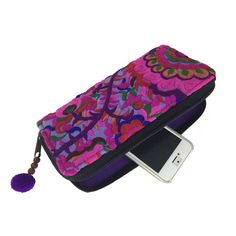Global Crafts - Blossom Zippered Wallet - Purple - Global Groove (P) Fair Trade Clothing, Fair Trade Fashion, Slow Fashion, Fashion Handbags, Purses And Bags, Women's Bags, Zipper, Purple, Unique Jewelry