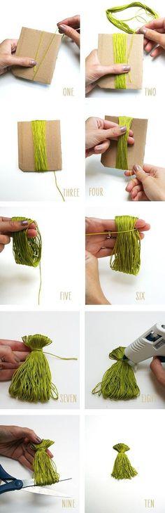 DIY: mini tassel garland - Diy & Crafts World Diy Tassel Garland, Tassels, Diy Projects To Try, Sewing Projects, Craft Projects, Diy And Crafts, Arts And Crafts, Do It Yourself Jewelry, Crafty Craft