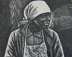 "Snagging an Elizabeth Catlett ""Survivor"" linocut print 