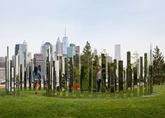 Jeppe Hein creates 18 whimsical installations in Brooklyn park