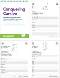 Handwriting Instruction pages: students learn letters in grouped by the initial pencil stroke  (for example the curve group consists of c, a, d, g, o, q); lower case letters are taught first,  followed by upper case letters and then numerals #handwriting #cursive