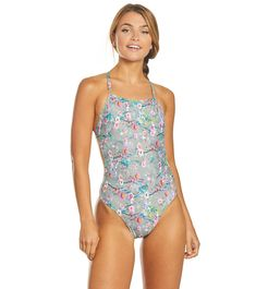 Speedo Turnz Women's Printed One Back One Piece Swimsuit One Back, Swimsuits, Swimwear, One Piece Swimsuit, Competition, Prints, Fashion, Bathing Suits, Womens Bodysuit