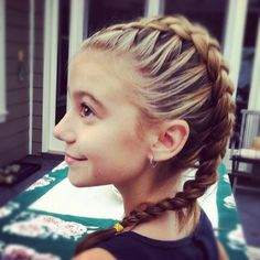 g hannelius cool hair #Braid  Nice inside out French braid!