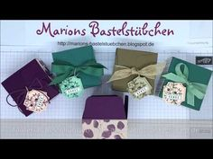 YouTube Gift Bag Punch Board, Box Packaging, Gift Bags, Box Templates, Envelopes, Tube, Stamps, Origami Boxes, Tutorials