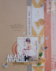 #Papercraft #scrapbook #layout. Magic by Michelle Wedertz at @studio_calico