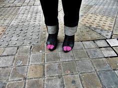 Peep-Toe Pink - Shoreditch Street Style.