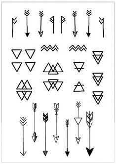 Minimal Geometric Mini Tattoos by LionelAndLavender on Etsy