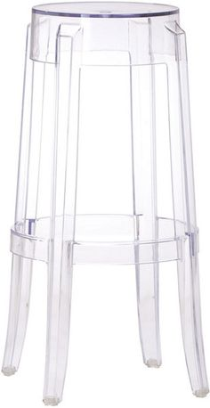 The Annamae Stool is an ultra-modern barstool made with a single mold transparent polycarbonate construction. Perfect for the kitchen, dining and bar spaces! Available at puremodern.com