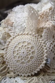 lavender filled vintage lace