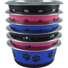 Pet Zone Stainless Steel Medium Bowl, Multicolor