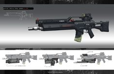 ArtStation - EUR USA WEAPON SYSTEM 01, longque Chen