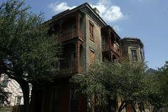 Whann-Bohn House before renovation. Esplanade Avenue. Faubourg Marigny. New Orleans, Louisiana