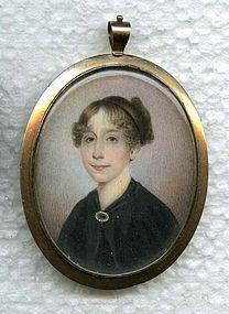 Miniature Portrait on Ivory Joseph Wood  c1825