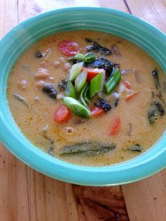 lemon tahini miso soup with chickpeas ~vegan, gluten free~