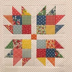 My 1st Quilt top of 2017. I went out of my comfort zone and used a patterned background and am pleasantly surprised!#frivols8 #modafrivols #breadnbutter #americanjanefabrics