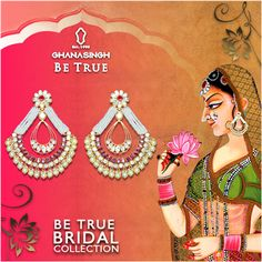 On the most awaited day of your life, dress up like a princess and adorn this exquisite #jewellery from Ghanasingh Be True! #Fashion #Jewlry #DesignerJewellery #DiamondJewellery