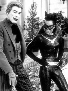 Eartha Kitt as 'Catwoman' and Cesar Romero as 'The Joker' in the 1960's Batman TV Show