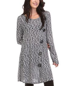 Another great find on #zulily! Heather Gray Abstract Button-Up Cardigan - Plus by A La Tzarina #zulilyfinds