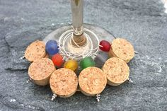 Wine glass cork charms - love these!