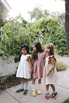 Wren & James linen pinafore dresses in Ivory, Dusty Rose and Natural-timeless, classica, vintage nostalgic, heirloom