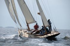 Bernice under sail