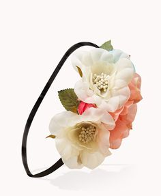 Romantic Flower Crown | FOREVER21 Dress up your hair style with this #Floral #Headband #Accessories