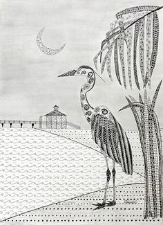Crescent Moon Heron