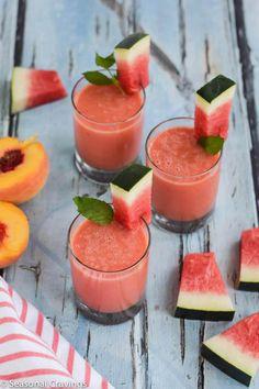 Watermelon Peach Smoothie - Seasonal Cravings