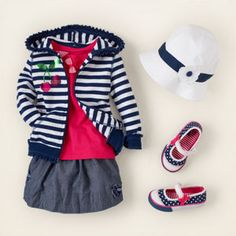 This is part of the new Spring line from the Children's Place!!! She will DEF. be getting this outfit... I lOVE the hat!