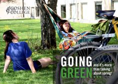 Find out about going green at Goshen College! Goshen College, Liberal Arts College, Go Green, Day Trips, Sustainability, Baby Strollers, Challenges, Baby Prams, Prams