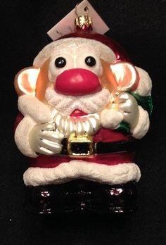 Christpher Radko RARE Mr Potato Head Santa Claus Christmas Ornament  TAG IN BOX