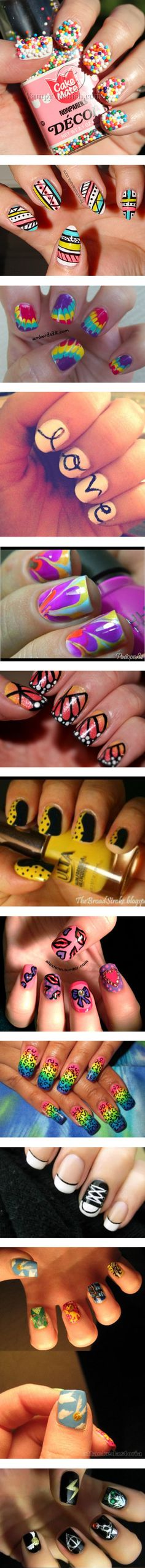 """""""Nails!"""" by hasya-weasley ❤ liked on Polyvore"""