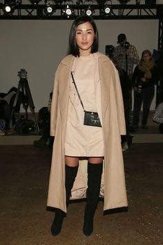 Nicole Warne - Dion Lee Fall 2015 Front Row - MADE Fashion Week Fall 2015 - February 14, 2015