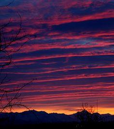 Sunrise in Wasilla Alaska, taken by Sonja Stavenjord