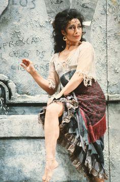 Victoria Vergara (Carmen) in the 1983 summer production of Carmen at San Francisco Opera