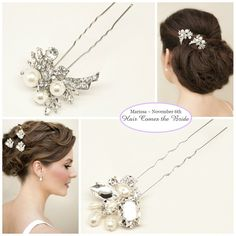 Bridal Hair Accessories and Jewelry by Hair Comes the Bride for Essence D1662