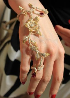 Bracelet and ring combination from Wendy Yue.