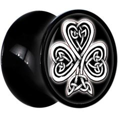 00 Gauge Black Acrylic Celtic Knot Clover Saddle Plug Body Candy. $9.99. Sold Individually. Purchase 2 for a Pair