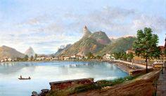 Enseada de Botafogo,Rio de Janeiro. Quadro pintado por Nicola Antonio Facchinetti .