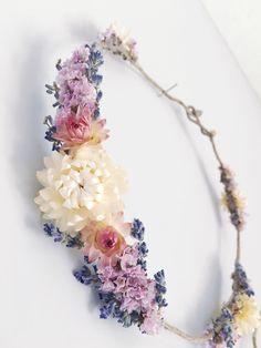 Dried flower crown // bohemian flower crown // by MeadowandMoss