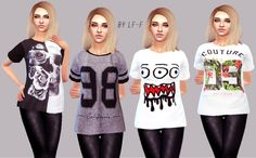 Random T-Shirts at Lulufrosty-frog via Sims 4 Updates