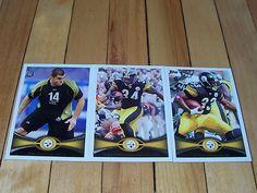 RASHARD MENDENHALL ISAAC REDMAN DAVID DECASTRO RC 2012 Topps Steelers 3 Card Lot
