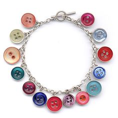 Grainne Morton :: Contemporary Handcrafted Bracelets :: Colour Button Bracelet