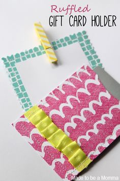 Ruffled Gift Card Holder - so nice and cute rather than handing over a Target envelope!!!!