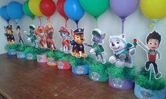Resultado de imagem para centro de mesa patrulha canina Paw Patrol Birthday Girl, Daddy Birthday, Paw Patrol Party, 3rd Birthday Parties, 4th Birthday, Cumple Paw Patrol, Fiesta Party, Party Themes, Party Ideas